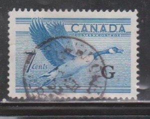 CANADA Scott # O31 Used - Official G Overprint - Canada Goose