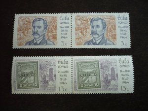 Stamps - Cuba - Scott# 828-829 - Mint Hinged Set of 2 Stamps in Pairs