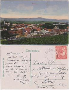 Czechoslovakia 1919 Postcard with nice ZDANICE CDS . VF