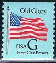 USA 2888, (25c) Old Glory, blue background, Stamp Venture...