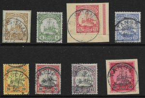 GERMAN EAST AFRICA SG26/33 1905 YACHT SET FINE USED