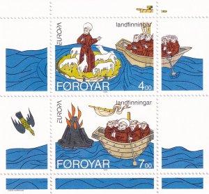 Faroe Islands - 1994,  Europa S/Sheet MNH # 265a