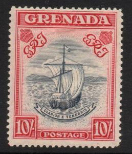 GRENADA SG163b 1943 10/= SLATE-BLUE & BRIGHTCARMINE p14 NARROW PRINTING MTD MINT
