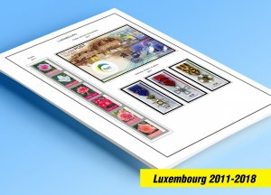 COLOR PRINTED LUXEMBOURG 2011-2018 STAMP ALBUM PAGES (39 illustrated pages)