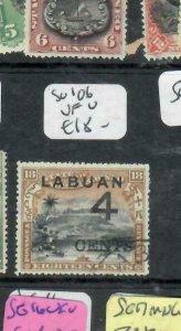 LABUAN (P1811B)   ON NORTH BORNEO  4C/18C MOUNTAIN   SG 106    VFU