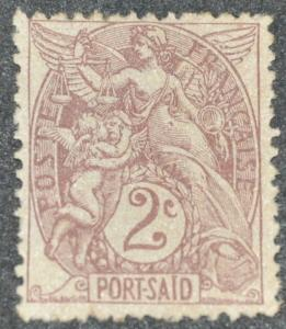 DYNAMITE Stamps: French Port Said Scott #19 - UNUSED