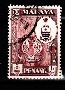 Malaya - Penang - #61 Tiger/Crest - Used