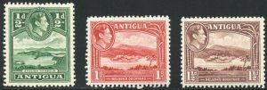 Antigua Scott 84-86 - Unused VFVLHOG - SCV $4.80