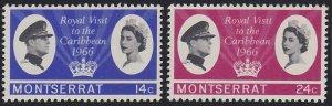 Montserrat 182-183 MNH (1966)