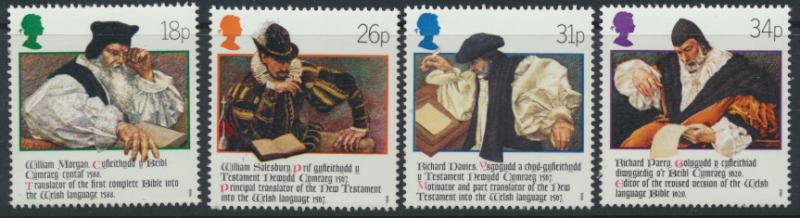 GB SG 1384 - 1387  SC# 1205-1208  MNH  - Anniversary of Welsh Bible