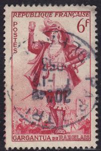 France 688 Gargantua of Francois Rabelais 6Fr 1953