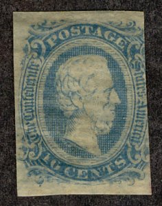 US #CONFEDERATE US #11 VF mint, four nice margins,  milky blue,  usual dry gu...