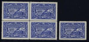 Canada 302 single & block of 4 - mnh $1 fishing