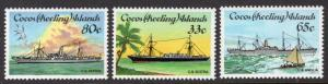 Cocos Islands Scott 129-131
