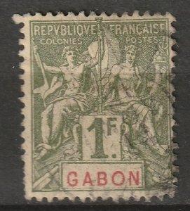 Gabon 1904 Sc 30 used