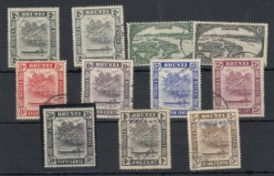 Brunei KGVI 1948 Collection Of 11 To 50c SG89 MLH/VFU J7071