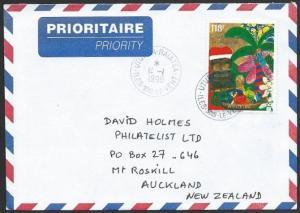 FRENCH POLYNESIA 1998 airmail cover UTUROA to New Zealand..................47189