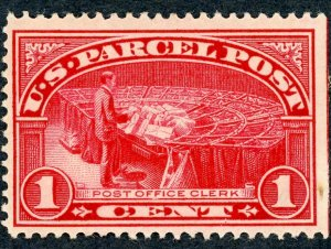 #Q1 – 1912-13 1c Parcel Post Stamp.  MLH OG.