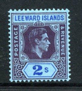 Leeward Islands 1938 KGVI 2/- chalk paper SG 111 mint