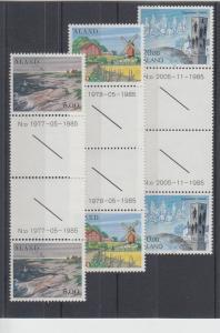 Aland Sc 18, 19, 22 MNH. 1984 First Definitives, 3 different Gutter Pairs, VF