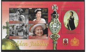 2002    GIBRALTAR  -  SG.  MS  1001  -  GOLDEN JUBILEE   -  MNH