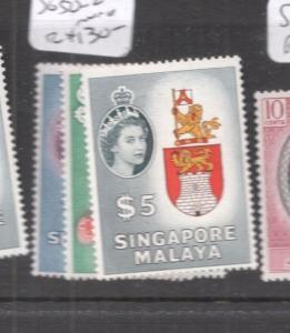 Singapore QEII High Values SG 50-2 MNH (6dis)