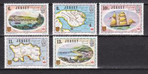 Jersey MNH 190-4 Links With Canada