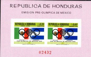 HONDURAS C435a MNH IMPERF S/S SCV $16.00 BIN $9.00