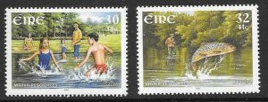 IRELAND SG1420/1 2001 EUROPA WATER RESOURCES MNH