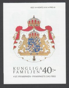 Sweden Sc 2037a intact booklet. 1973 Royal Family, fresh, bright, VF.
