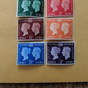 Great Britain 252-7 complete set, F-VFNH, CV $8