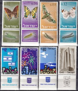 Israel #304-11 MNH With Tabs (Z2918)