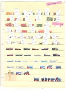 CANADA COLLECTION ON STOCK SHEET, MINT/USED