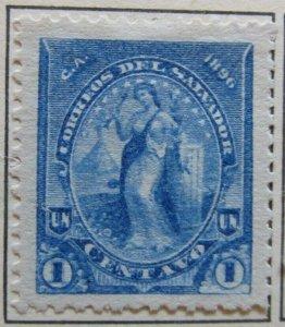 A6P37F101 Salvador 1896 Unwmk 1c mint no gum