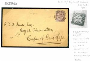 W294b Boer War 1901 COGH *OBSERVATORY ROAD* Squared Circle ASTRONOMY ROYALTY