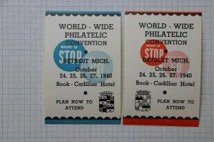Attend Book Cadillac Hotel Detroit MI Travel WW Philatelic Convention 1940 Ad
