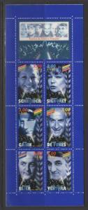 FRANCE SGCSB37 1998 FILM STARS BOOKLET MNH
