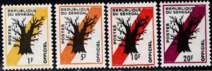 Senegal Scott o9-o12 MH* official stamps