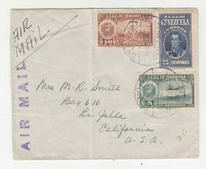 VENEZUELA, 1939 Airmail cover, Caracas to USA.