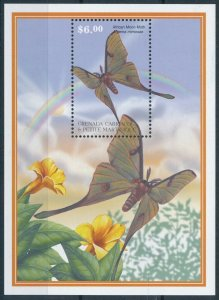 [108922] Carriacou & Petite Martinique 2001 Insects butterflies moths Sheet MNH
