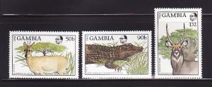 Gambia 719, 721, 724 MNH Animals