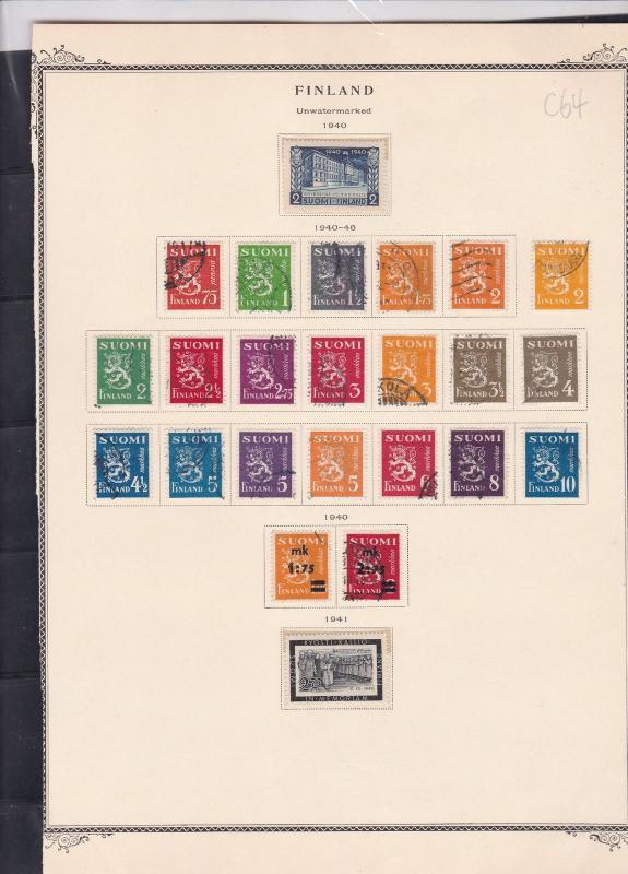 finland 1940-41 stamps page ref 18075