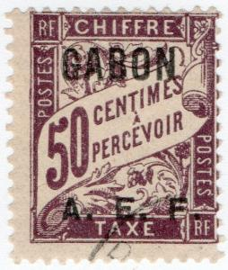 (I.B) France Colonial Postal : Gabon (AEF) Post Tax 50c