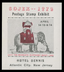 SOJEX 1972 (37th) Stamp Show - MINT, Never Hinged, F-VF or Better