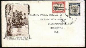 SAMOA 1935 1d & 2½d FDC ex Apia............................................44551