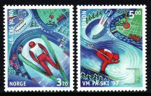 Norway 1153-1154, MNH. World Nordic Skiing Championships, 1997