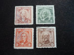 Stamps - Cuba - Scott# 674,676,678,679 - Used Single Partial Set of 4 Stamps