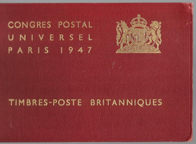 GREAT BRITAIN 1947 UPU Conference Presentation Book Paris Very Few Issued!