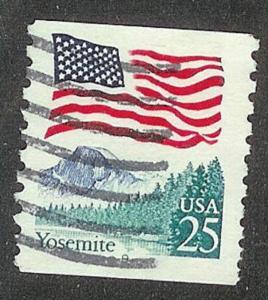 US #2280 Yosemite Flag Used PNC Single block tag plate #9
