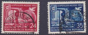 Germany DDR # 108-109, Machine, Globe & Dove, Used, 1/2 Cat